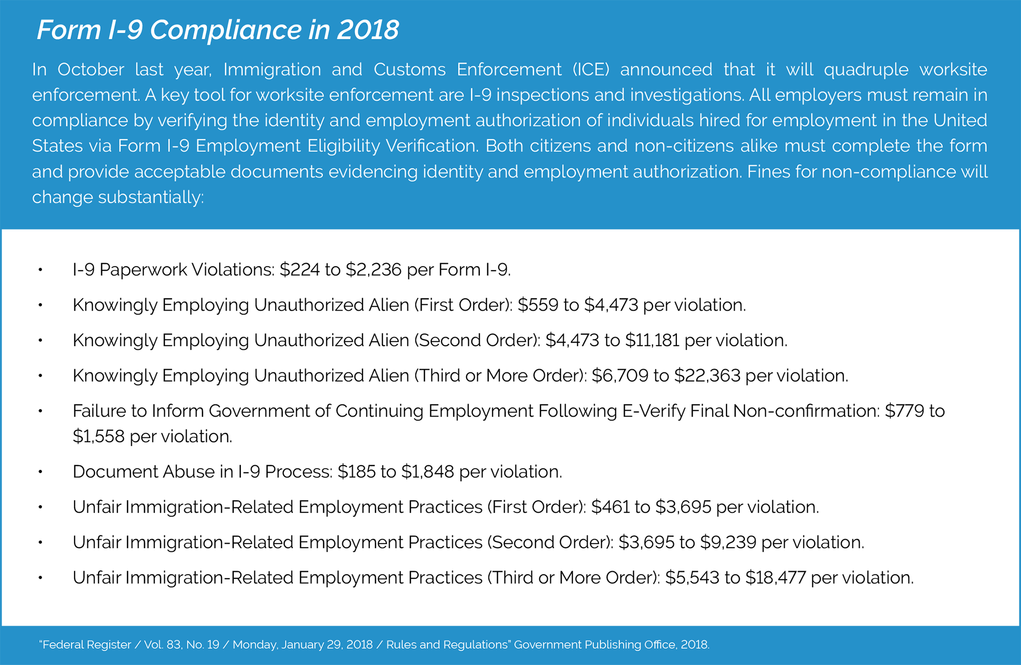 Form I-9 Compliance in 2018